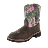 Ariat Womens Fatbaby Heritage Collection Boot Shoes, Bomber/Pink Camo