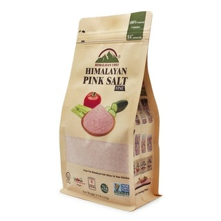 Himalayan Chef Stand Up Bag With Window Pink Salt, 0.5 lb
