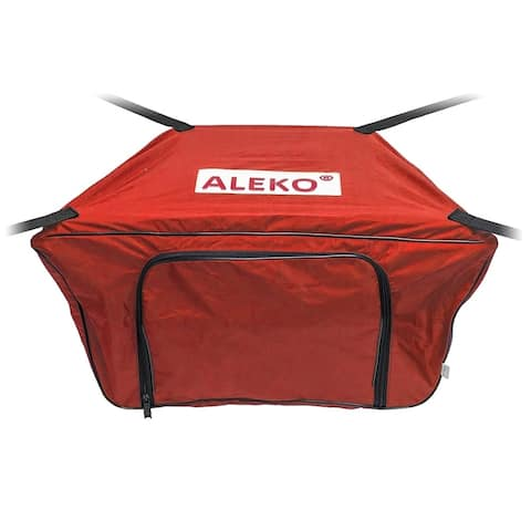 "ALEKO Waterproof Front Bow Storage Bag for 13.8' Boats 34"" x 19"" Red"