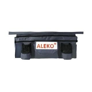 "ALEKO Inflatable Boat Seat Cushion 41""x9"" Dark Grey With Under Seat Bag - Dark Grey"