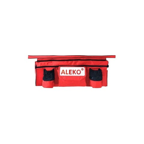 "ALEKO Seat Cushion 33""x8"" Red With Under Seat Bag For Inflatable Boat"