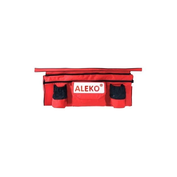 """ALEKO Inflatable Boat Seat Cushion 34""""x9"""" Red With Under Seat Bag"""