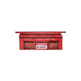 """ALEKO Inflatable Boat Seat Cushion 41""""x9"""" Red With Under Seat Bag"""
