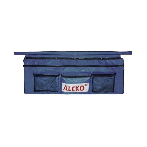 "ALEKO Inflatable Boat Seat Cushion 38""x9"" Blue With Under Seat Bag"