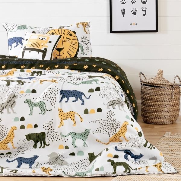 South Shore Dreamit Kids Bedding Set Safari Wild Cats