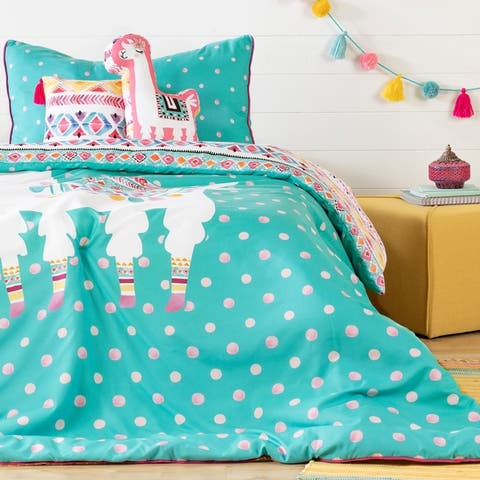 South Shore Dreamit Kids Bedding Set Festive Llama