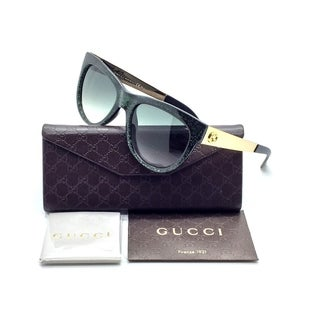 Gucci Optyl Glitter Green/Gold Frame Sunglasses