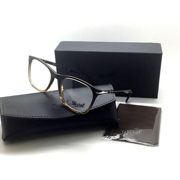 55c375a9bd244 Shop Persol Men Brown Square Eyeglasses PO 3188 V 1026 53 Plastic ...