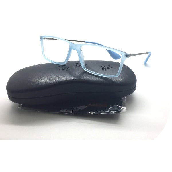632bc3b9ac3 Shop Ray-Ban 7021 5370 Matthew Eyeglasses Frames Glasses Clear Powder Blue  55mm - Free Shipping Today - Overstock - 23386823