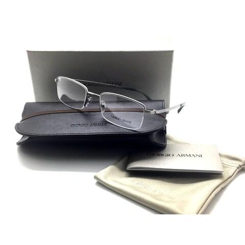 Giorgio Armani Semi Rimless Men Gunmental Square Eyeglasses AR 5065 3003 52MM