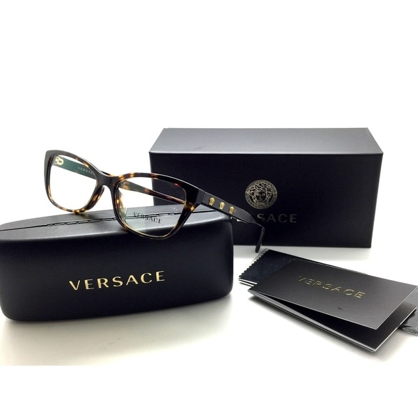 41201ddd9040 Shop VERSACE Eyeglasses RX Frame MOD. 3249 108 Tortoise Havana Gold 54-16-140  - Free Shipping Today - Overstock - 23386846