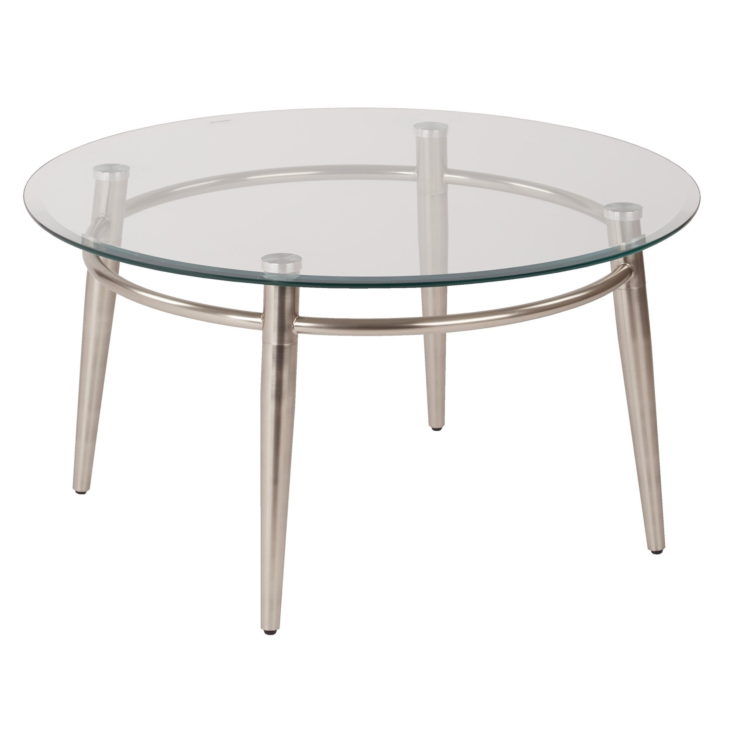 - Shop Mid Century Brooklyn Round Top Glass Coffee Table - Overstock