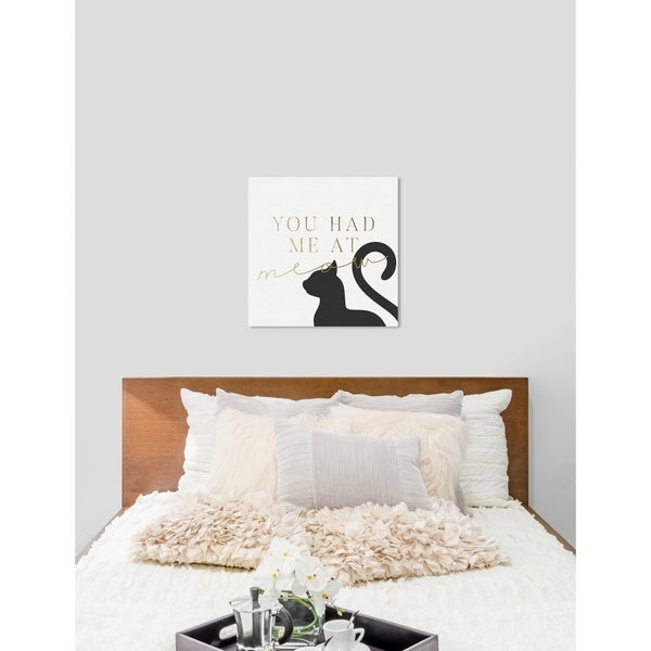 Shop Oliver Gal You Had Me At Meow Cats And Kittens Wall Art Print