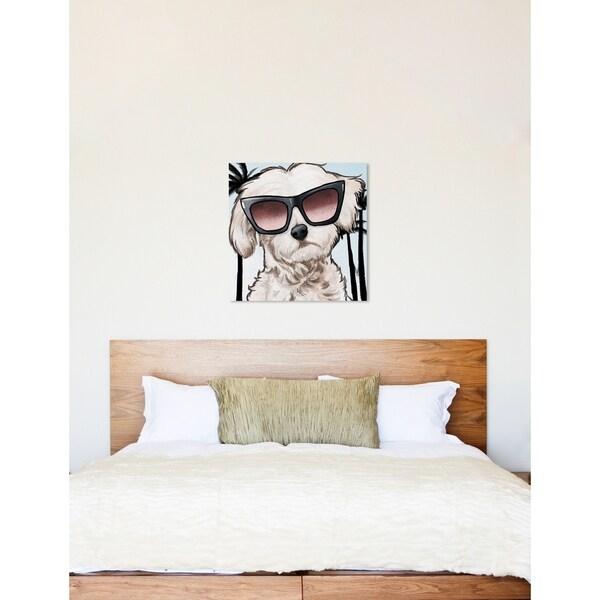 Shop Oliver Gal 'Maltese Palm Glam' Animals Wall Art Canvas