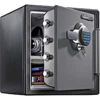 """Sentry Fire-Safe Electronic Lock Business Safes  17.8"""" x 16.3"""" x 19.3"""" - Grey"""