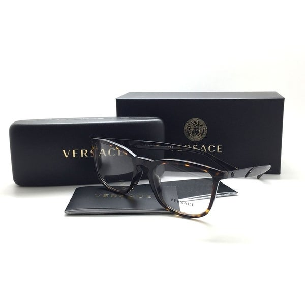 a6d2bd8c00e Shop Versace Women Tortoise Square Eyeglasses MOD 3252 A 108 54 Plastic - Free  Shipping Today - Overstock - 23387019