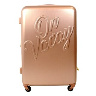 Macbeth Collection On Vacay 29in Rolling Luggage Suitcase, Gold - 29