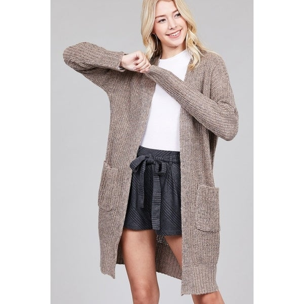 71758218eda Shop JED Women's Chunky Knit Marled Slouchy Long Cardigan - Free ...