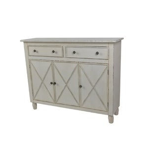 Lamps Per Se Off White 3 Door / 2 Drawer Cabinet