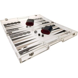 OnDisplay Luxe Acrylic Backgammon Set