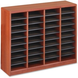 Safco E-Z Stor Light Wood Literature Organizers- 36 Compartments