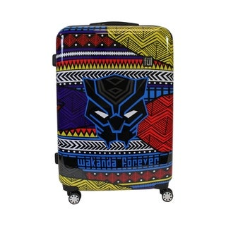 Ful Marvel Black Panther Tribal Art 29in Rolling Luggage, Black - 29