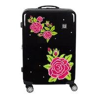 0e09093c0 Shop Ful Printed Rose Hard Sided 3 Piece Luggage Set, Black - 29