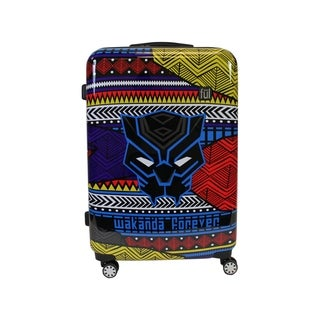 Ful Marvel Black Panther Tribal Art 25in Rolling Luggage, Black - 25