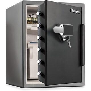 Fire-Safe Digital Alarm Water/Fire-resistant Safe - Grey
