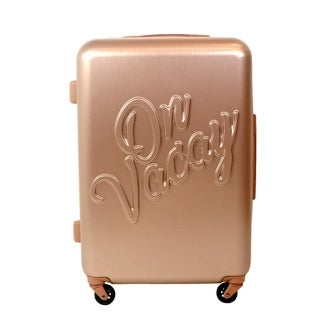 Macbeth Collection On Vacay 25in Rolling Luggage Suitcase, Gold - 25