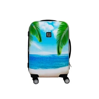 FUL Printed Tropical Beach 21in Hard Sided Rolling Luggage