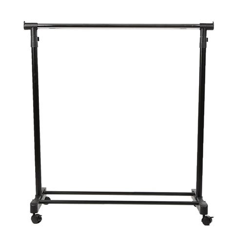 Mind Reader Garment Rack, Heavy Duty Stainless Steel Adjustable Clothing Rack on Wheels, Extendable Arms, Silver