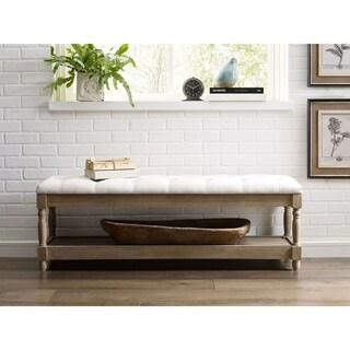 Finch Provence Reclaimed Oak Tufted Bench