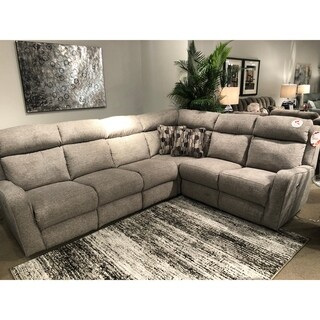 Southern Motion's First Class Power Headrests Reclining Sectional