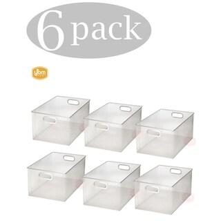 Ybm Home Wire Mesh Open Bin Shelf Storage Basket Kitchen Pantry Organizer Silver Upper: 14.5 in. L x 9.25 in. W x 7 in. H 6 Pack