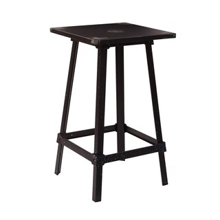 OSP Design Olympia Metal Bar Table in Antique Black