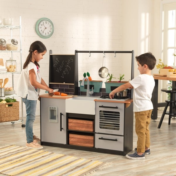 Shop Kidkraft Farm To Table Play Kitchen With Ez Kraft