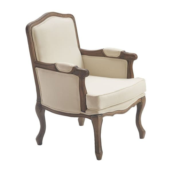 Admirable Shop Finch Louis Accent Chair Vintage Cream Free Shipping Bralicious Painted Fabric Chair Ideas Braliciousco