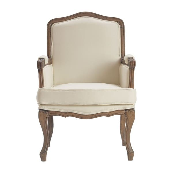 Tremendous Shop Finch Louis Accent Chair Vintage Cream Free Shipping Bralicious Painted Fabric Chair Ideas Braliciousco