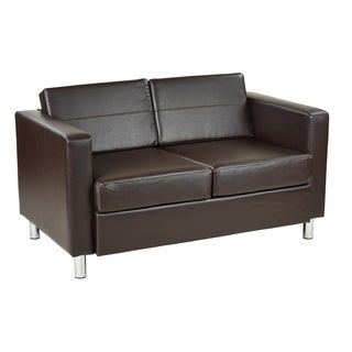 Ave Six Pacific Loveseat in Espresso Faux Leather