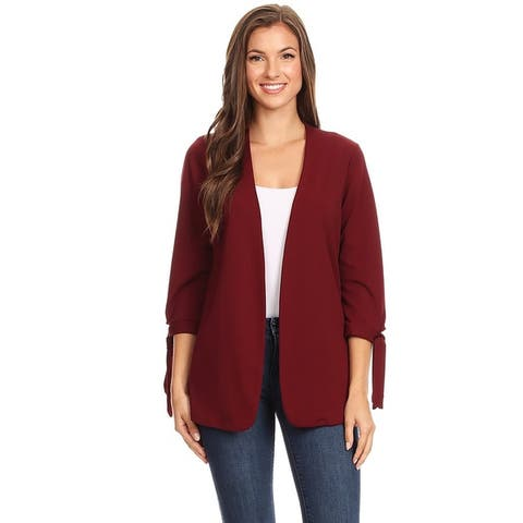 Women's Solid Casual Collarless Loose Fit Cardigan