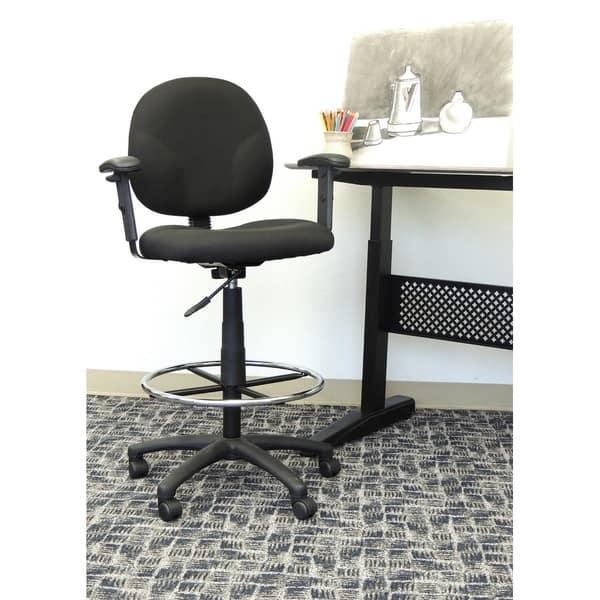 Terrific Shop Boss Drafting Stool With Adjustable Arms Free Creativecarmelina Interior Chair Design Creativecarmelinacom