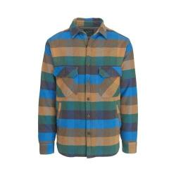 Men's Woolrich Oxbow Bend Plaid Flannel Shirt Jacket Multi Check