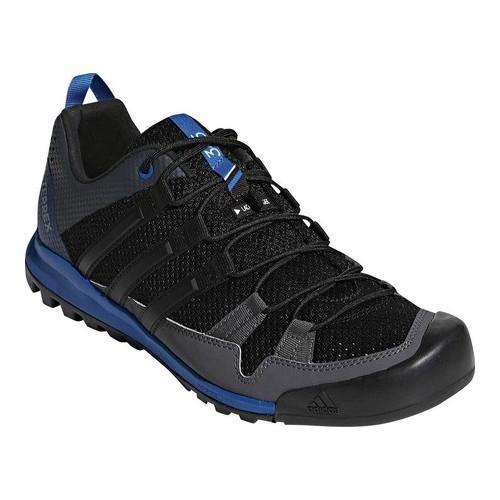 negozio uomini è adidas terrex assolo scarpa nera / nero / blu bellezza