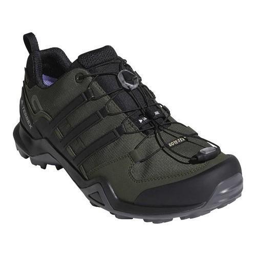 Shop Men s adidas Terrex Swift R2 GORE-TEX Hiking Shoe Night  Cargo Black Base Green - Free Shipping Today - Overstock - 19840552 aecc11fae