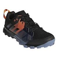 Men's adidas Kanadia 8.1 Trail Shoe Carbon/Black/Orange