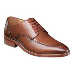 Men's Florsheim Salerno Moc Toe Oxford Cognac Smooth Leather