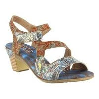 Women's L'Artiste by Spring Step Marvel Slingback Blue Multi Leather