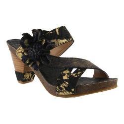 Women's L'Artiste by Spring Step Myah Slide Black Multi Leather