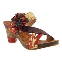 Women's L'Artiste by Spring Step Myah Slide Gold Leather